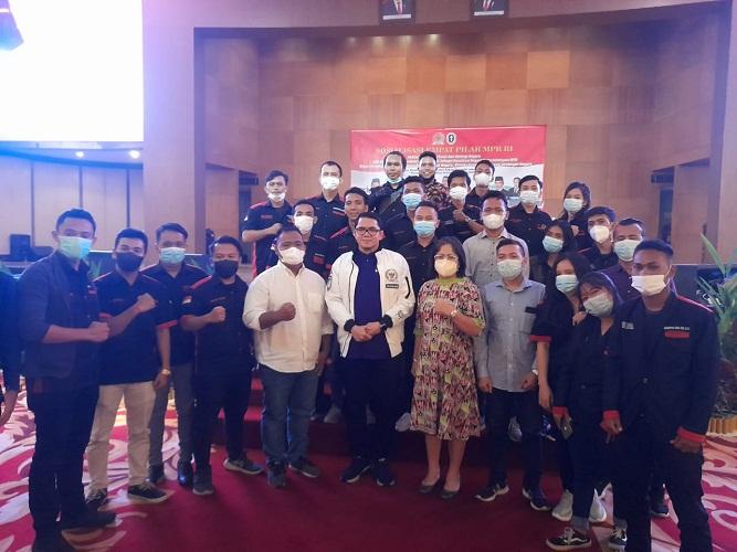 DPD SOMBA Sumut Menghadiri Sosialisasi Empat Pilar MPRI RI