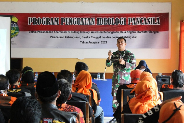 "Dandim 0612/Tasikmalaya Sebagai Pemateri dalam Kegiatan ""Program Penguatan Ideologi Pancasila"", Diselenggarakan Kesbangpol"