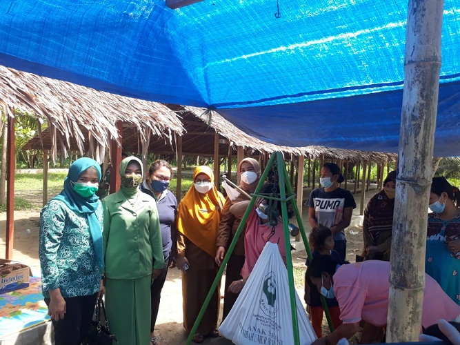 Satgas TMMD Kodim 0204/DS Sosialisasi Pos Bindu PTM