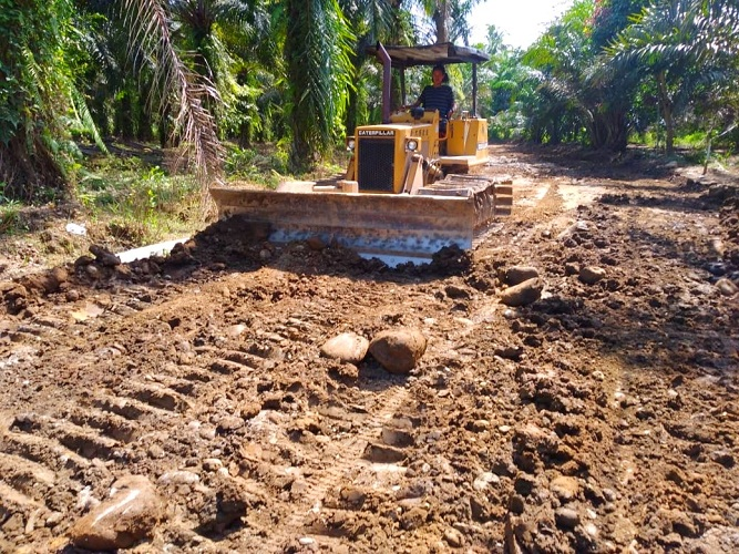 Deru Bulldozer Ratakan Tanah Pecah Keheningan di Lokasi TMMD Ke-111 Kodim 0204/DS