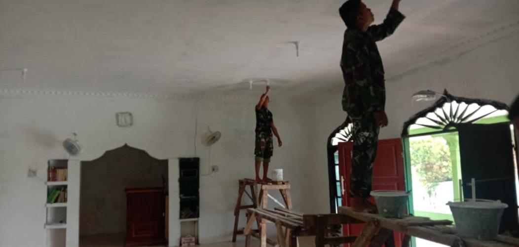 Tahap Demi Tahap, Satgas TMMD Kodim 0204/DS Terus Poles Masjid Al Muttaqin