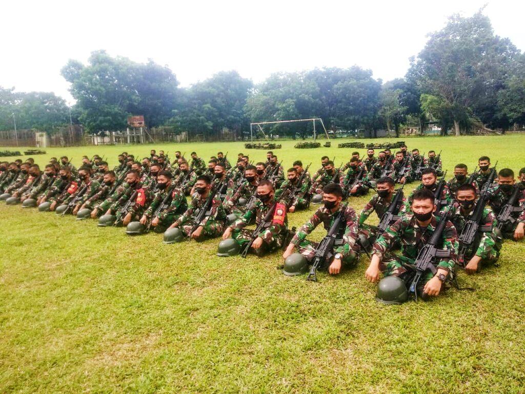 Danrindam I/BB Menutup Latihan Penyiapan Pratugas Satgas Pengamanan Daerah Rawan Maluku dan Maluku Utara Batalyon Arhanud 11/WB Y TA 2021