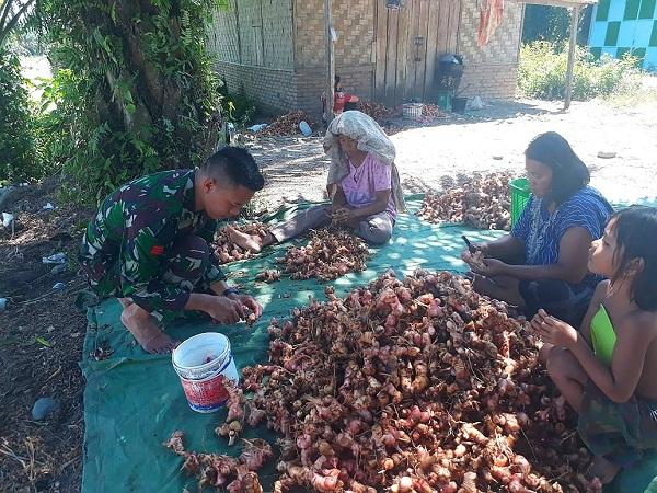 Anggota Satgas TMMD Kodim 0204/DS: Warga Dusun Ini Sudah Seperti Keluarga Sendiri