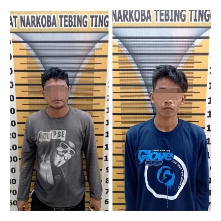 Dua Pelaku Diduga Miliki Narkotika Jenis Sabu 4,84 Gram Diringkus Tim Rajawali Bersinar Polres Tebing Tinggi