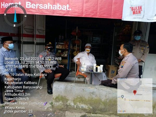 Kapolsek Kalibaru Gelorakan Santri Bermasker, Sambangi Ponpes Darusalam Kajarharjo