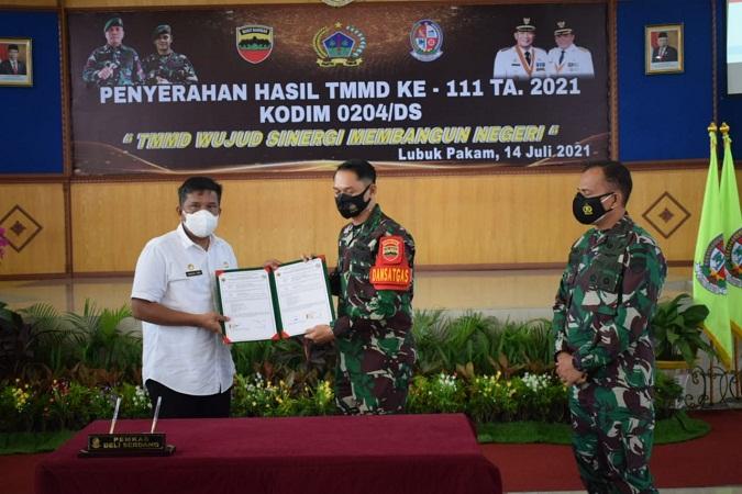 Tuntas Tepat Waktu, Program TMMD ke-111 Kodim 0204/Deli Serdang Resmi Ditutup