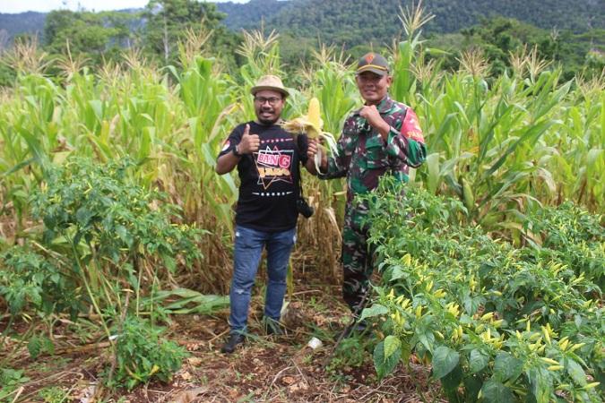 Apresiasi dari Komunitas Pertanian GCI untuk Kebun Satgas 131/BRS di Skouw
