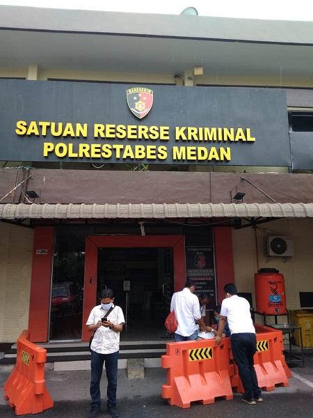 Kantor Reskrim Polrestabes Medan, Minggu (1/8/2021).