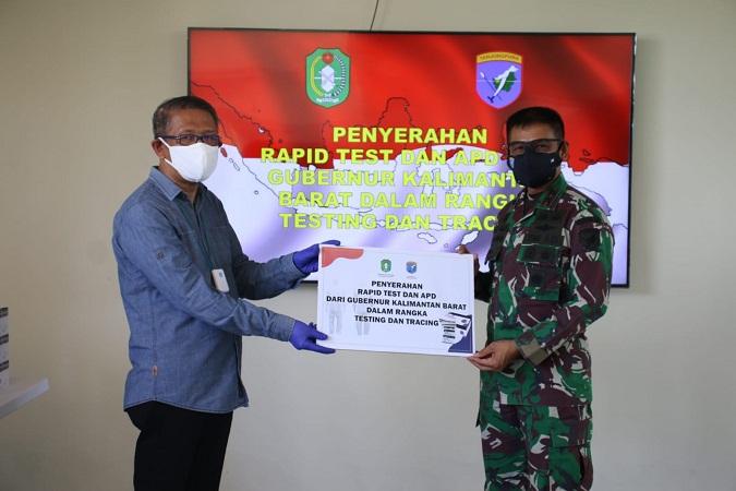 Pangdam XII/Tpr Menerima Bantuan Rapid Test dan APD dari Gubernur Kalbar