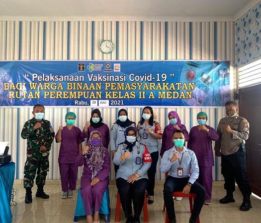 Rutan Perempuan Medan Vaksinasi Warga Binaan Tahap II