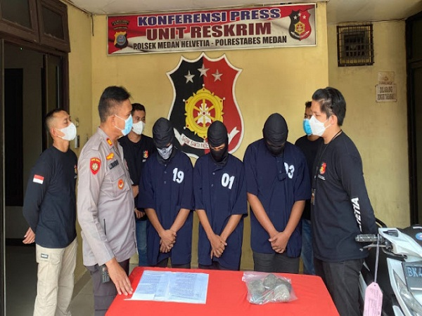 Team Tekab Polsek Medan Helvetia Sergab Para Komplotan Perampok