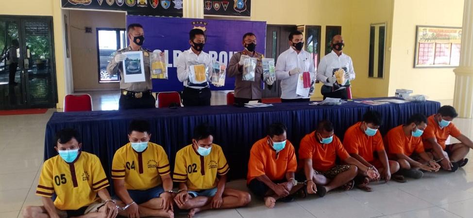 Kapolres Rohil Gelar Press Release Dugaan Pencurian Kartu ATM dan Kasus Narkotika
