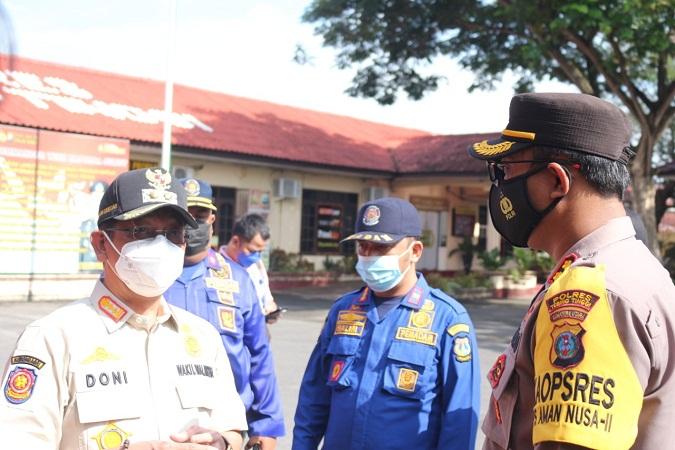 Kapolres Tebing Tinggi Pimpin Apel Kesiapsiagaan Penanganan Bencana Alam Didampingi Wakil Wali Kota Tebing Tinggi