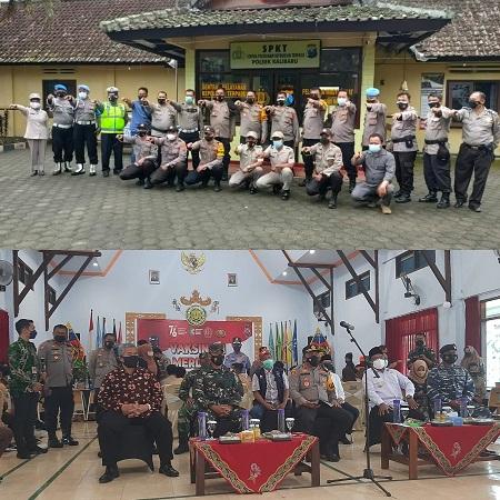 Kapolresta Banyuwangi, AKBP Nasrun Pasaribu Bersama Wabub Tinjau Vaksinasi 1203 Pelajar di Aula SMKN Kalibaru