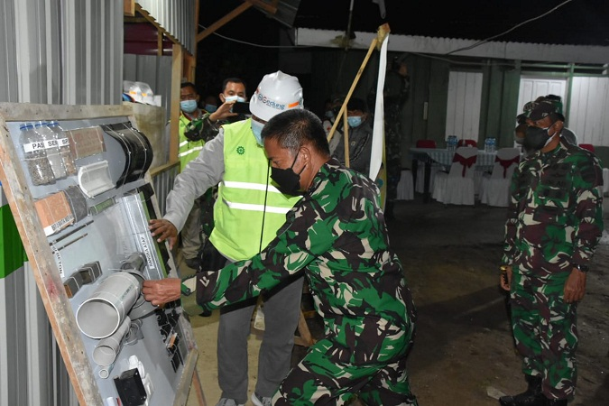 Pangdam I/BB Meninjau Pembangunan Rumah Dinas Prajurit Kodim 0210/TU