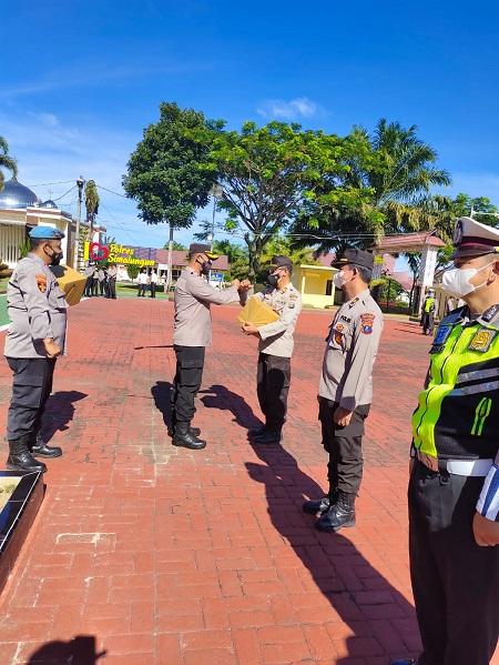 Kapolres Simalungun Pimpin Apel Pagi Perkenalan Personil Asal Papua
