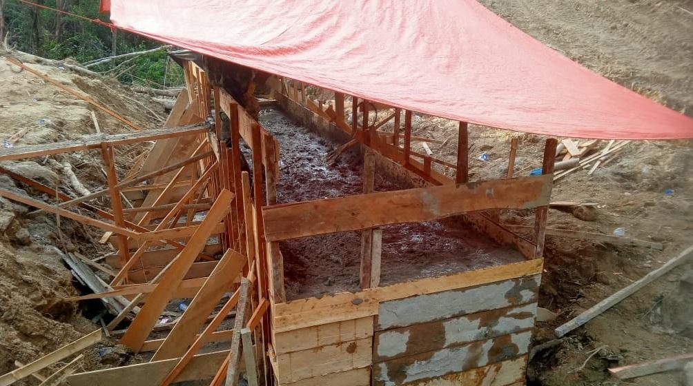Pemasangan Box Culvert di Desa Aornakan 2 Mencapai 80 %